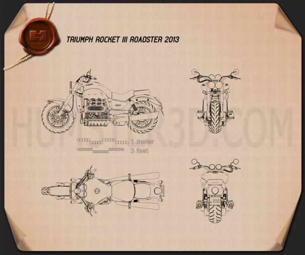 Triumph Rocket III Roadster 2013 Blueprint
