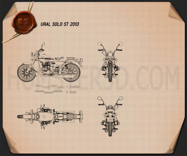Ural Solo sT 2013 Blueprint