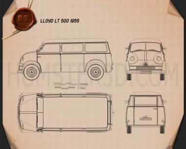 Lloyd LT 500 1955 Blueprint
