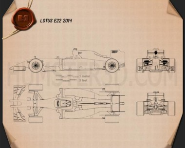 Lotus E22 2014 Blueprint