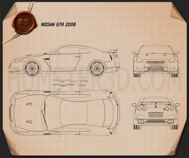 Nissan GT-R 2008 Blueprint