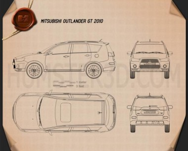 Mitsubishi Outlander GT 2010 Blueprint