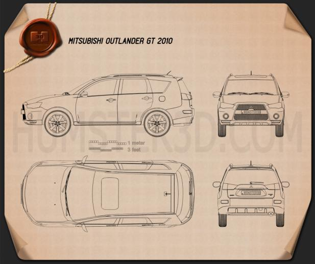 Mitsubishi Outlander GT 2010 Blueprint