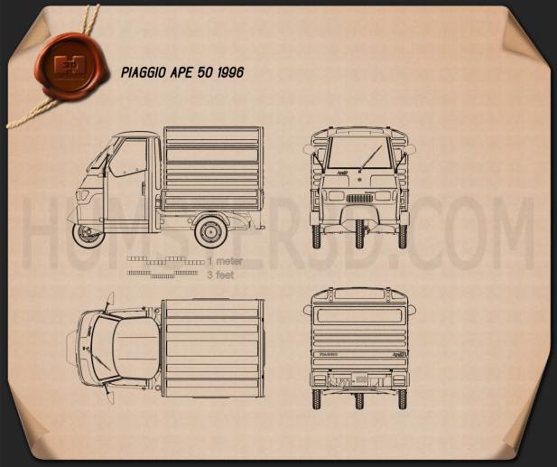 Piaggio Ape 50 1996 Blueprint