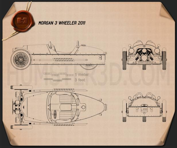 Morgan 3 Wheeler 2011 Blueprint