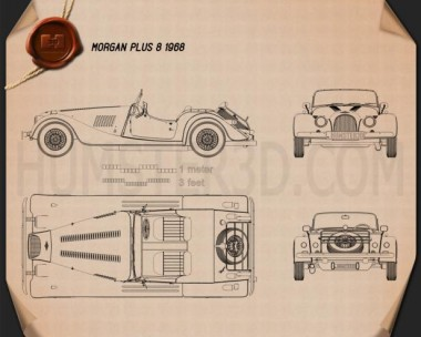 Morgan Plus 8 1968 Blueprint