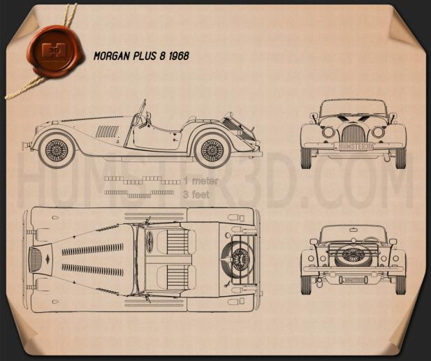Morgan Plus 8 1968 Blueprint