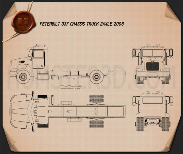 Peterbilt 337 Chassis Truck 2-axle 2006 Blueprint