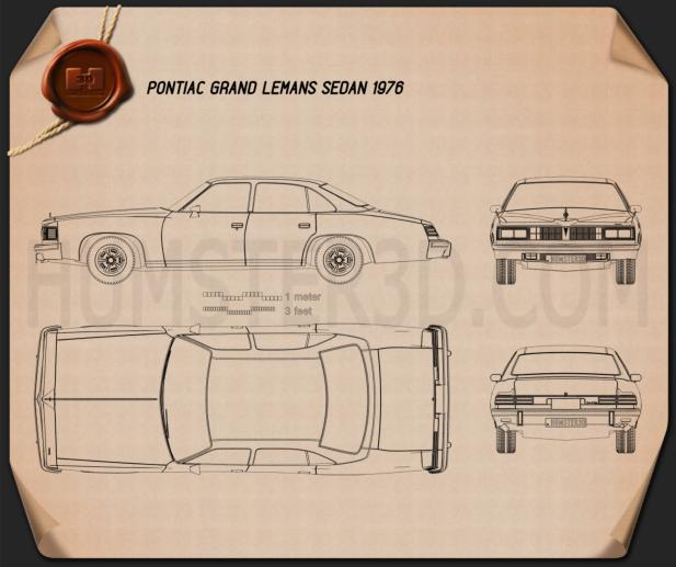 Pontiac Grand LeMans sedan 1976 Blueprint