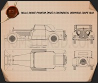 Rolls-Royce Phantom II Continental 1933 Blueprint