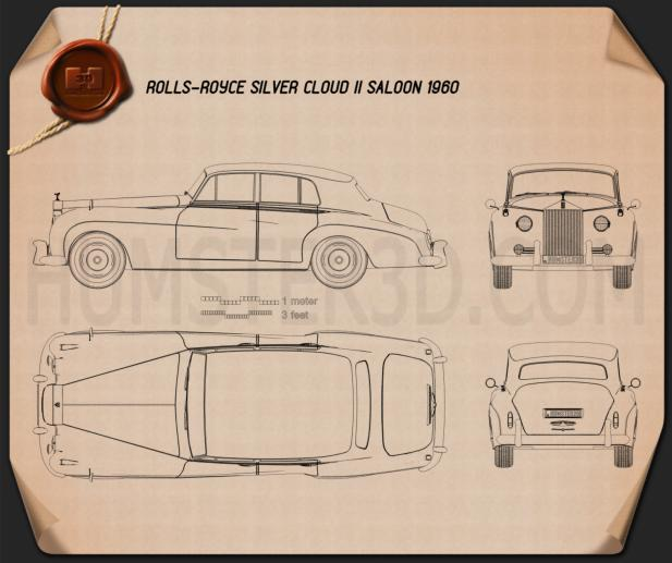 Rolls-Royce Silver Cloud II saloon 1959 Blueprint