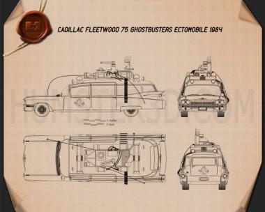 Ghostbusters Ectomobile Blueprint