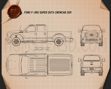 Ford Super Duty Crew Cab 2011 Blueprint