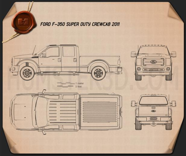 Ford Super Duty Crew Cab 2011 Blueprint