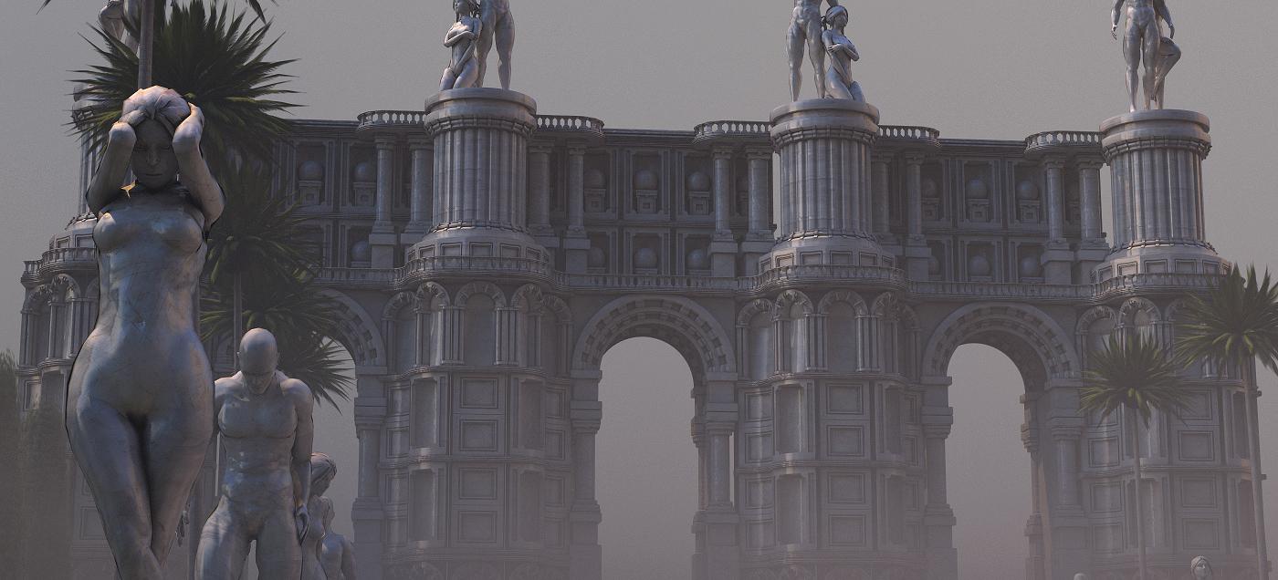 Rome statues