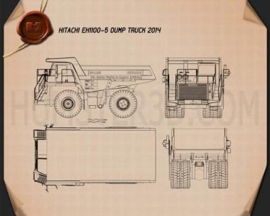 Hitachi EH1100-5 Dump Truck 2014 Blueprint
