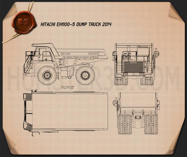 Hitachi EH1100-5 Dump Truck 2014 Blueprint
