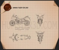 Yamaha FZ8 2013 Blueprint