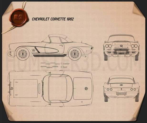 Chevrolet Corvette 1962 Blueprint