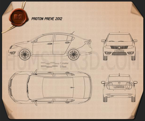 Proton preve 2012 blueprint hum3d for Where to get blueprints printed