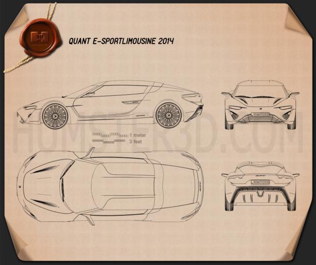 Quant e-Sportlimousine 2014 Blueprint