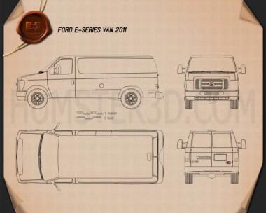 Ford E-series Van 2011 Blueprint