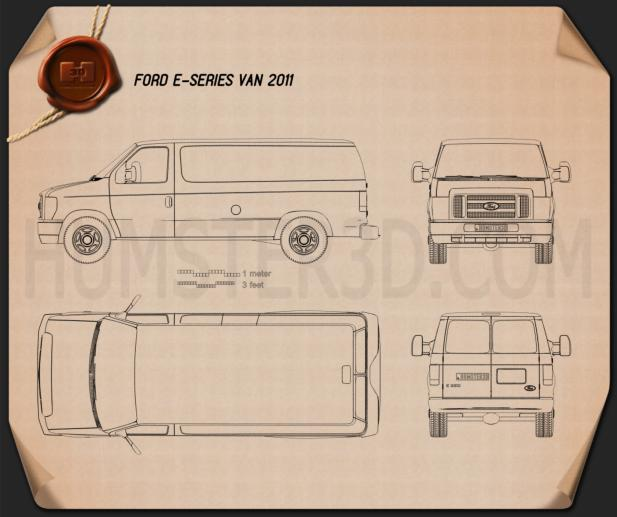 Ford E-series Van 2011 Blueprint