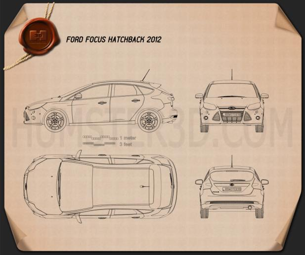 Ford Focus Hatchback 2011 Blueprint