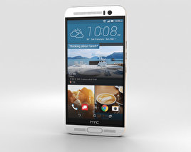 HTC One M9+ Silver Gold 3D model
