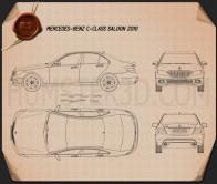 Mercedes-Benz C-Class 2010 Blueprint