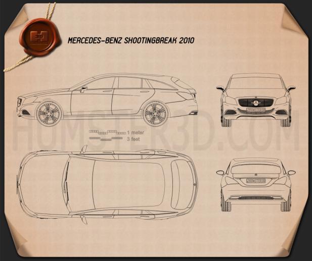 Mercedes-Benz Shooting Break Blueprint
