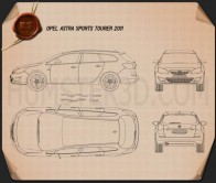 Opel Astra J Tourer 2011 Blueprint