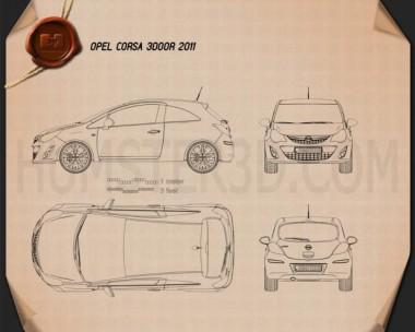 Opel Corsa 3-door 2011 Blueprint