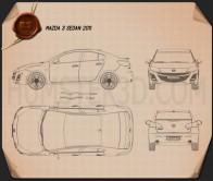 Mazda 3 Sedan 2011 Blueprint