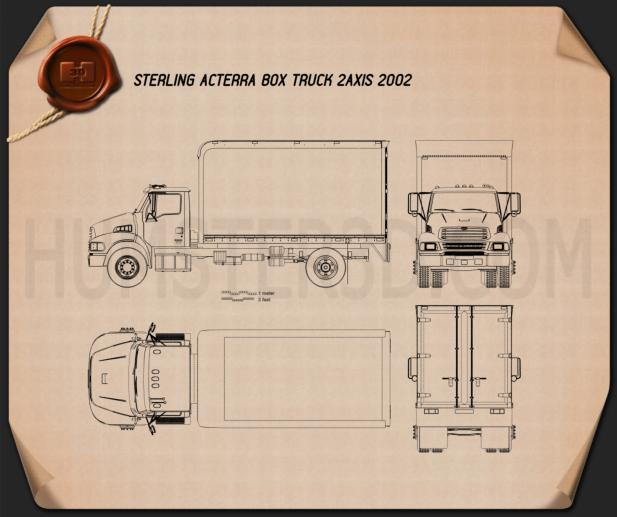 Sterling Acterra Box Truck 2002 Blueprint