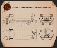 Sterling Acterra Etnyre Asphalt Distributor Truck 2009 Blueprint