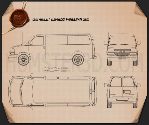 Chevrolet Express 2011 Blueprint