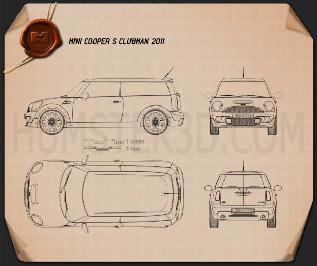 Mini Cooper S Clubman 2011 Blueprint