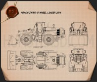 Hitachi ZW310-5 Wheel Loader Blueprint