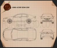 Honda Accord sedan Blueprint