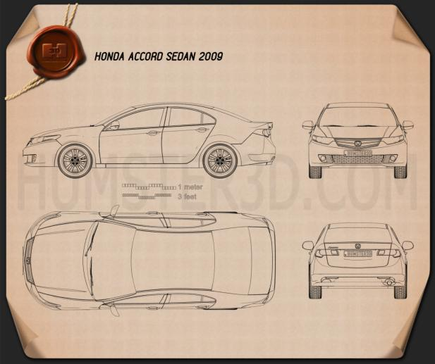 Honda Accord sedan Blueprint