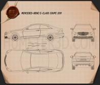 Mercedes-Benz E-Class coupe 2011 Blueprint