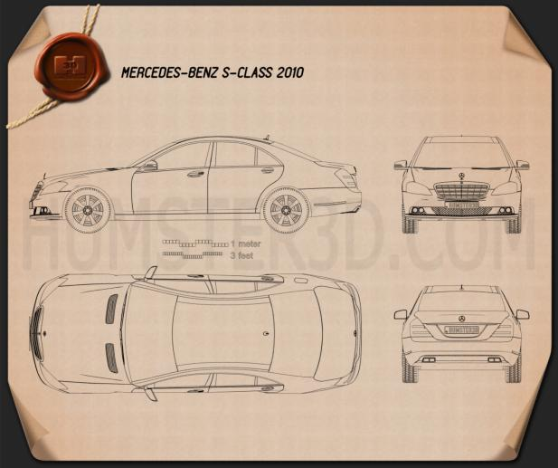 Mercedes-Benz S-Class Blueprint