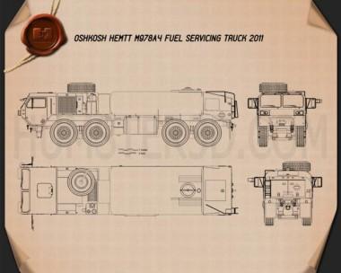 Oshkosh HEMTT M978A4 Fuel Servicing Truck 2011 Blueprint