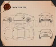 Porsche Cayman S 2011 Blueprint
