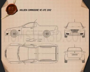 Holden VE Commodore UTE 2012 Blueprint