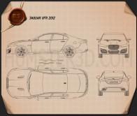 Jaguar XFR 2012 Blueprint