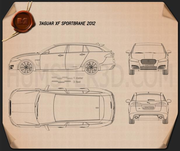 Jaguar XF Sportbrake 2012 Blueprint