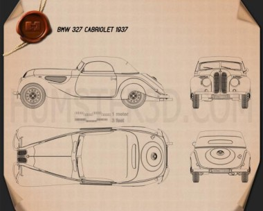 BMW 327 cabriolet 1937 Blueprint