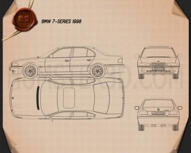 BMW 7 series e38 1998 Blueprint